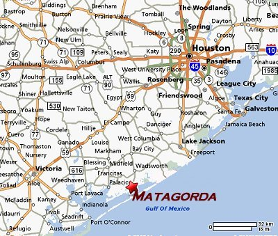 Locate Matagorda Bay and Matagorda Texas - Map of Texas coastline.